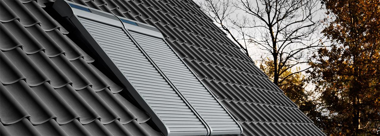 velux integra solar au enrollladen. Black Bedroom Furniture Sets. Home Design Ideas